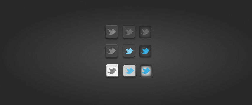Twitter buttons by vibethemes